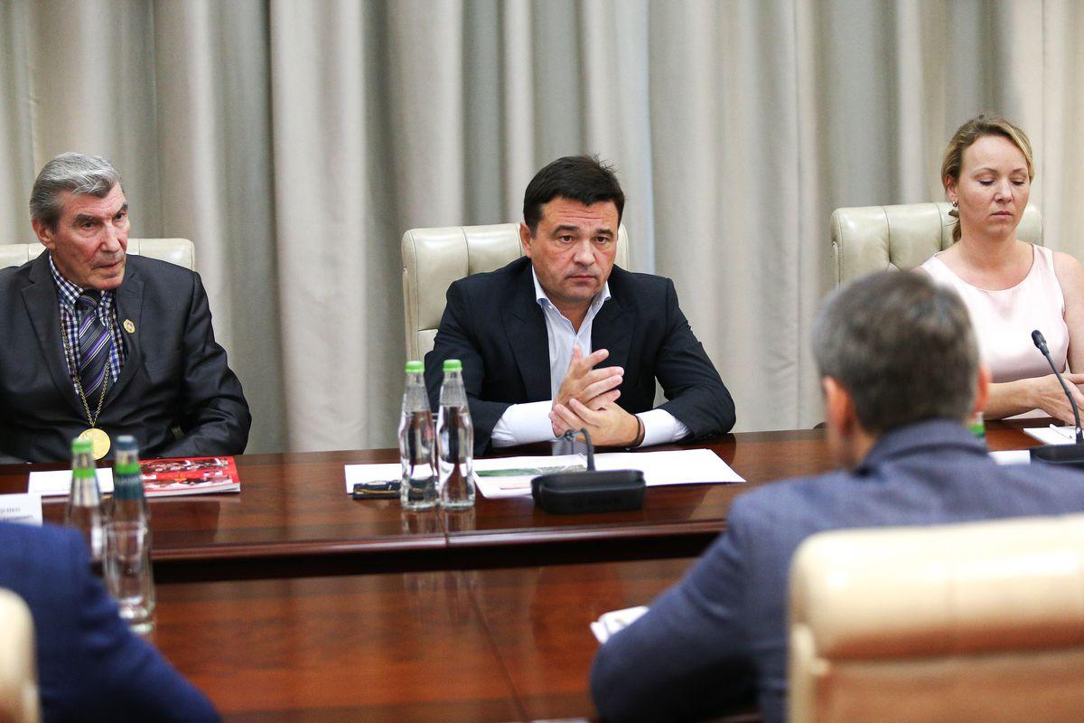 Андрей Воробьев губернатор московской области - Встреча с жителями Пушкино