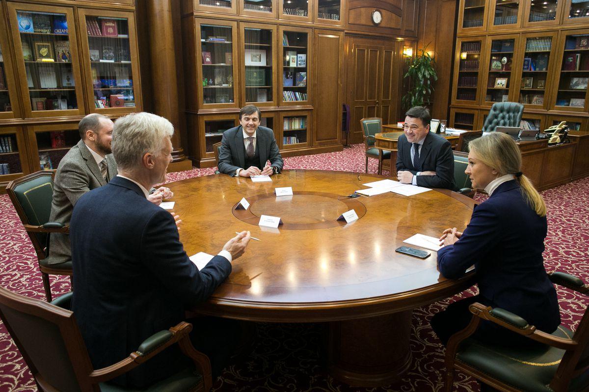 Андрей Воробьев губернатор московской области - Обсуждение перспектив  развития образования с Андреасом Шляйхером