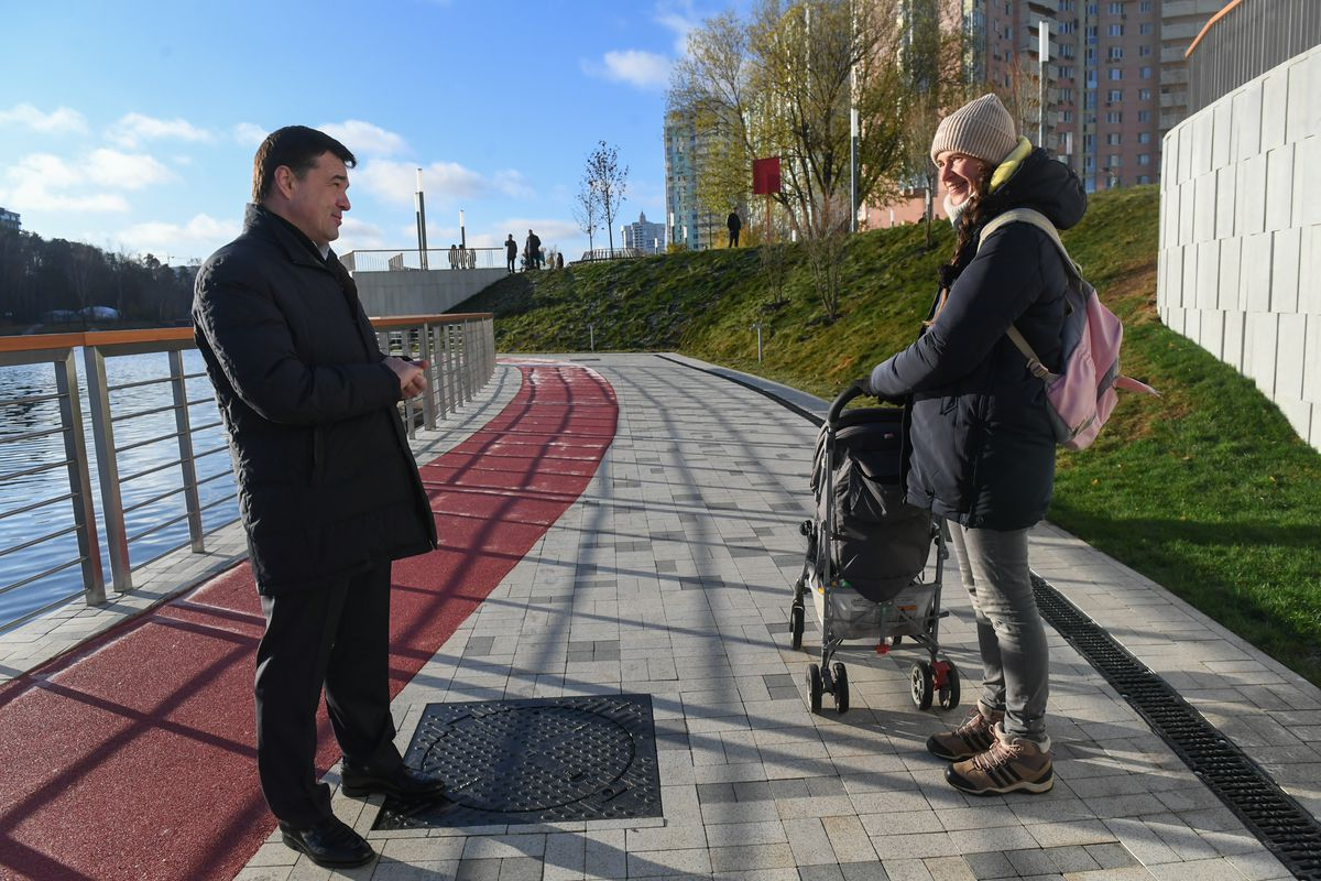 Андрей Воробьев губернатор московской области - Благоустройство продолжается. Как изменилась Павшинская Пойма за два года