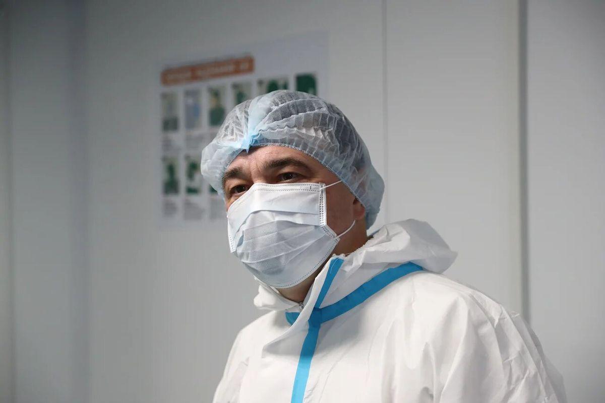 Андрей Воробьев губернатор московской области - Красная зона госпиталя: как она выглядит в Одинцове
