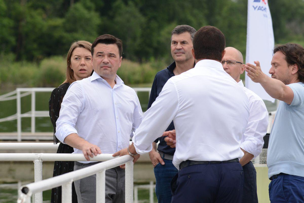 Андрей Воробьев губернатор московской области - Сергей Кириенко посетил новую подмосковную образовательную площадку
