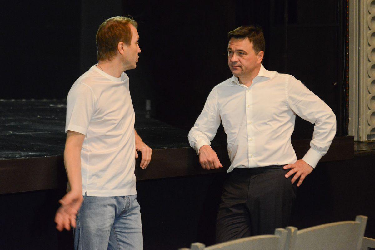 Андрей Воробьев губернатор московской области - Встреча с Евгением Мироновым и Юрием Башметом в Театре наций