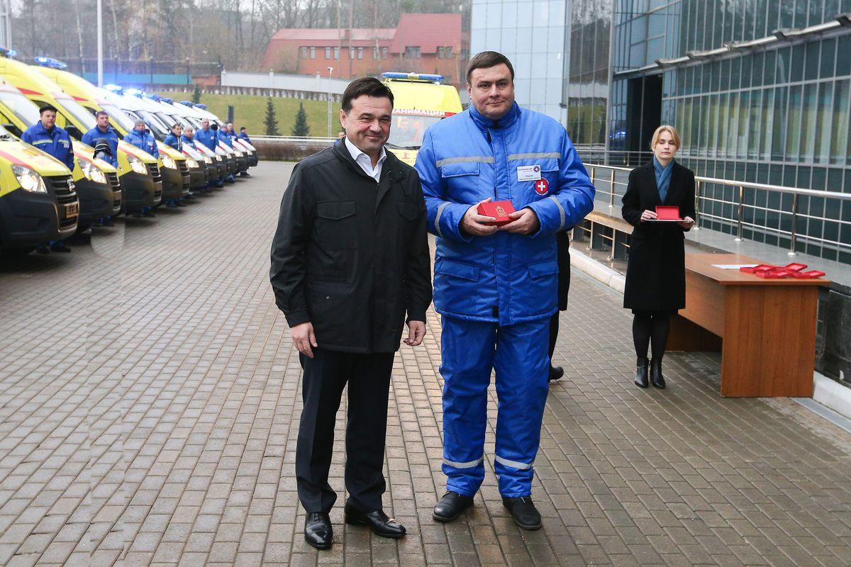 Андрей Воробьев губернатор московской области - В Подмосковье расширили автопарк машин скорой помощи