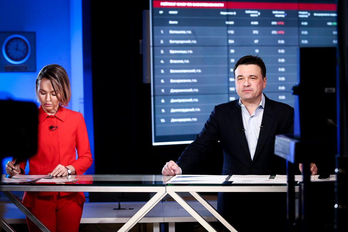 Андрей Воробьев губернатор московской области - Итоги апреля в эфире телеканала «360°»