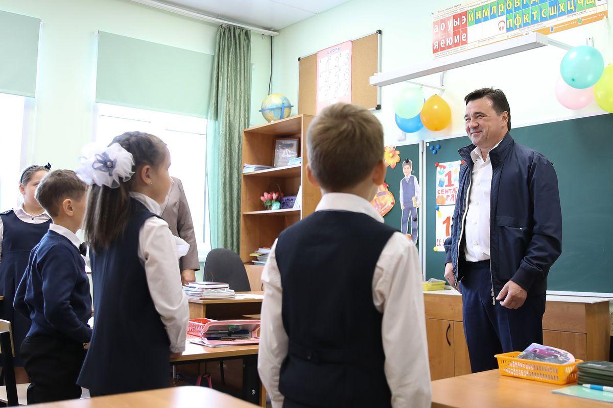 Андрей Воробьев губернатор московской области - Сытые и образованные: губернатор проверил, как кормят учеников малокомплектных школ
