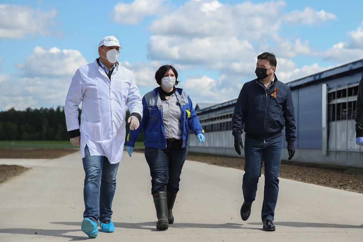 Андрей Воробьев губернатор московской области - Ферма будущего для решения задач настоящего. В Озерах проверили работу современного молочного предприятия