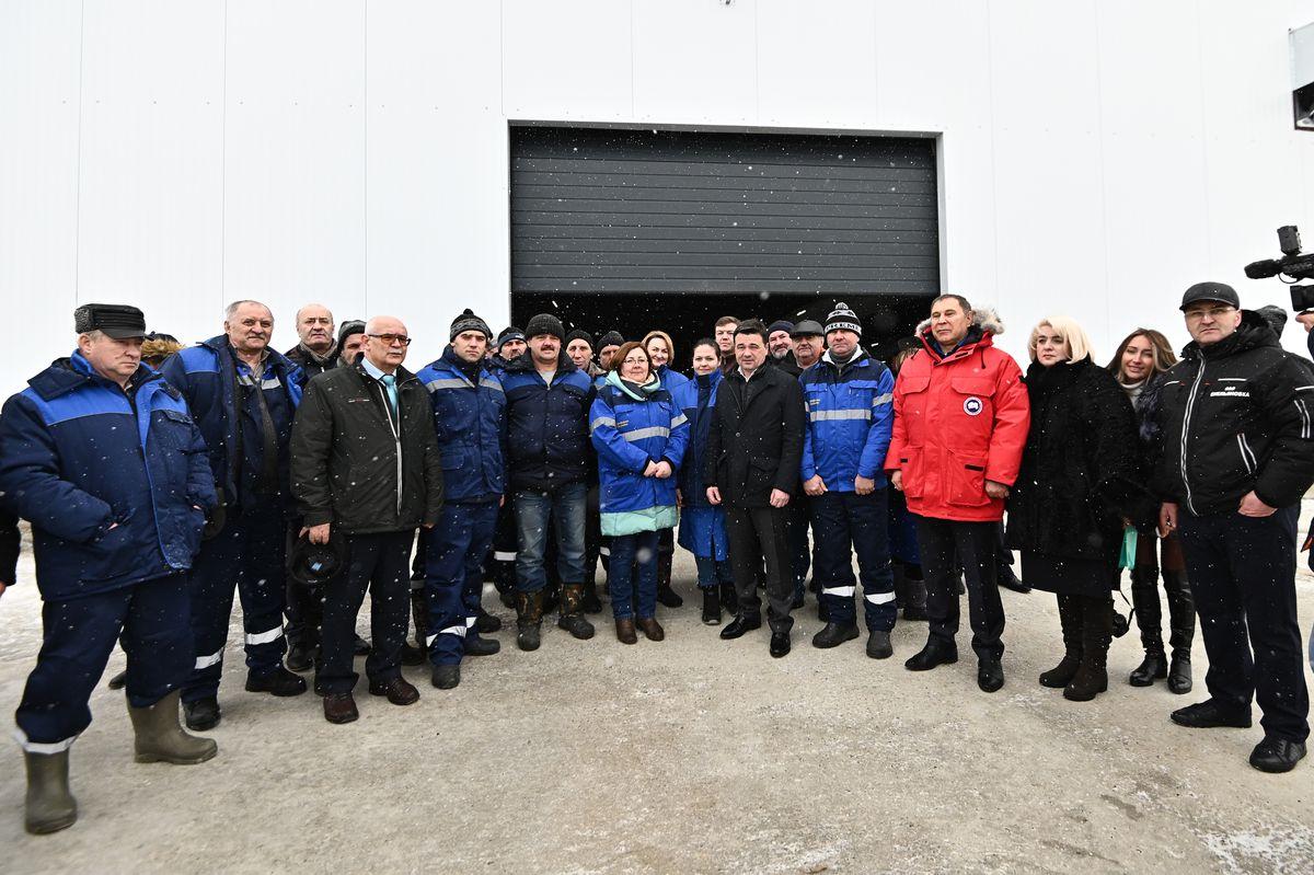 Андрей Воробьев губернатор московской области - Посещение нового животноводческого комплекса в Озерах