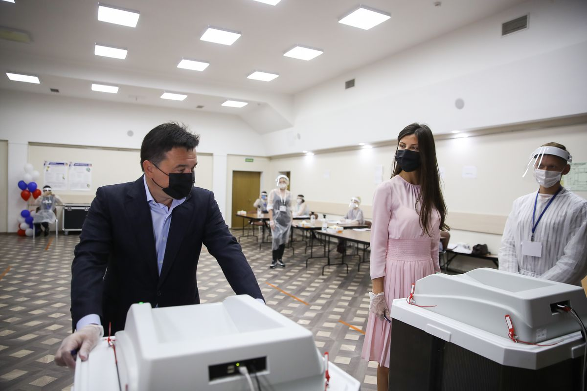 Андрей Воробьев губернатор московской области - Губернатор проголосовал по поправкам к Конституции