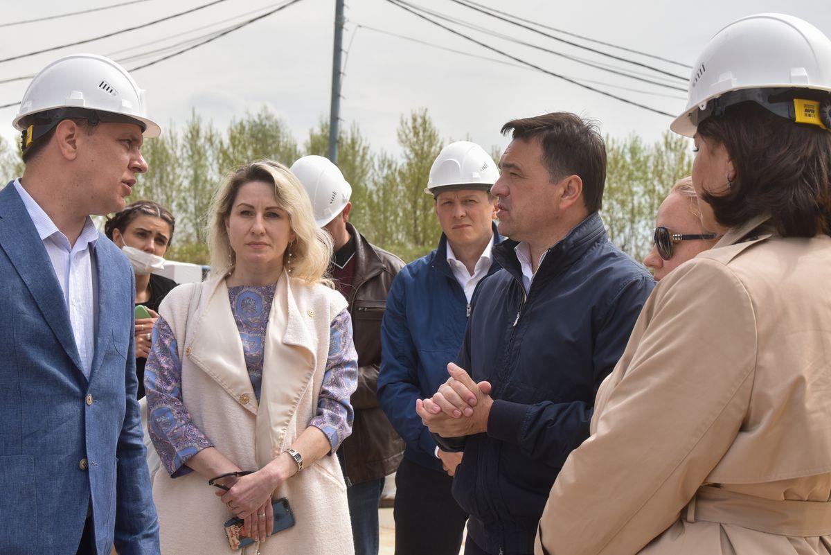 Андрей Воробьев губернатор московской области - Губернатор проверил работы на стройке ЖК «Лайково»