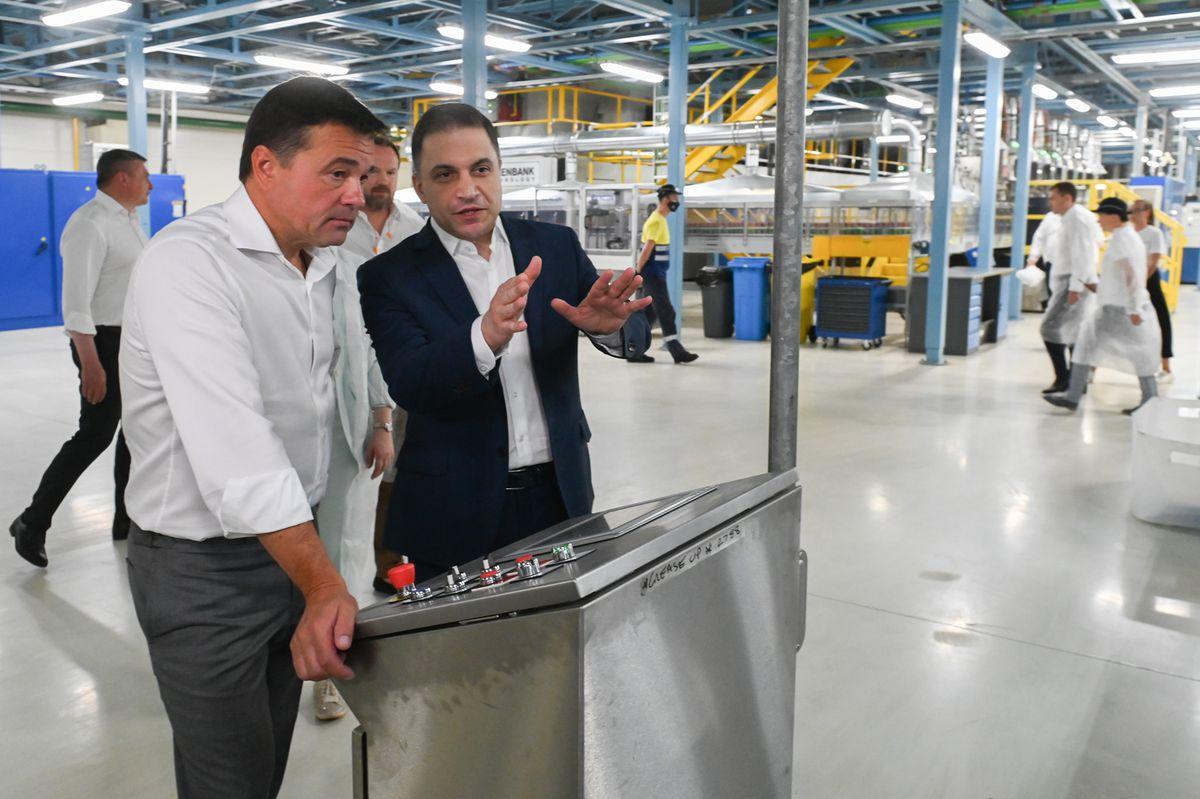 Андрей Воробьев губернатор московской области - Вдвое больше продукции и новые рабочие места. Новую линию запустили на заводе в Волоколамске