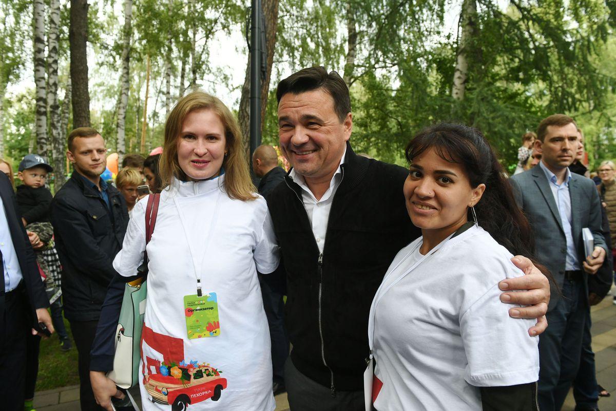 Андрей Воробьев губернатор московской области - Губернатор вручил награду лучшим паркам Подмосковья