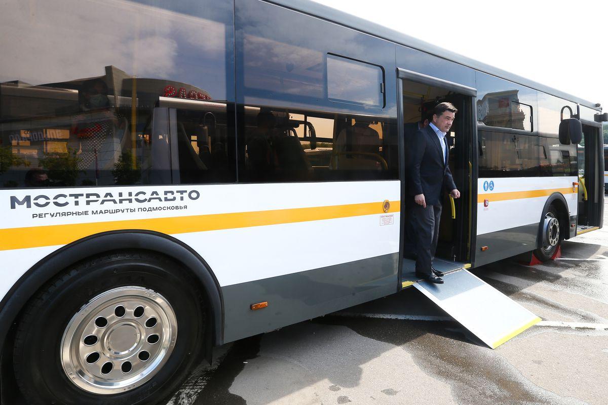 Андрей Воробьев губернатор московской области - По Подмосковью с комфортом: в области появится еще больше новых автобусов