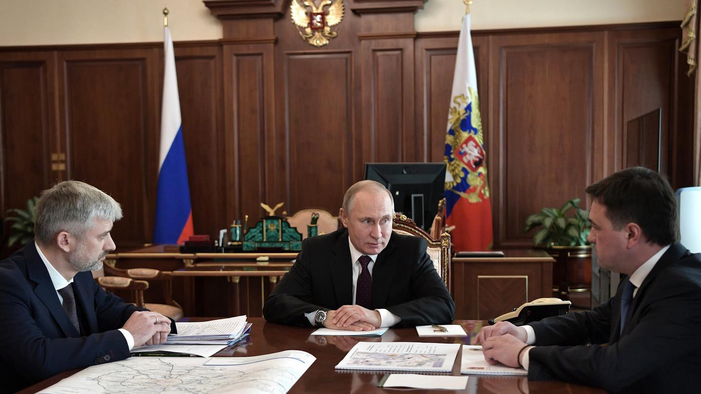 Владимир Путин провёл рабочую встречу с губернатором Подмосковья