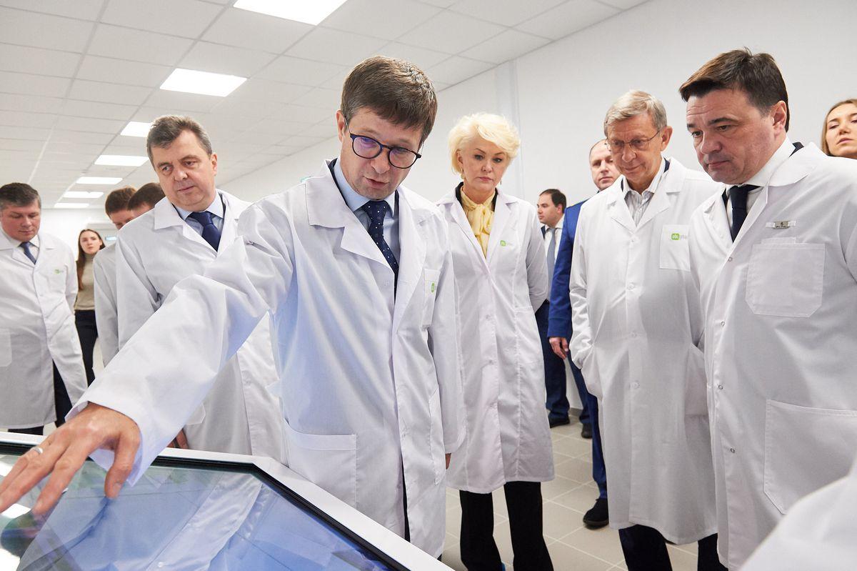 Андрей Воробьев губернатор московской области - Открытие фармацевтического завода компании «Оболенское»