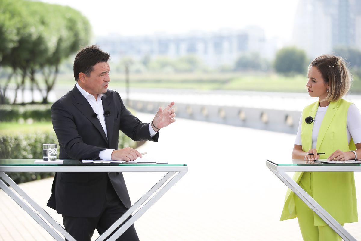 Андрей Воробьев губернатор московской области - Итоги июля на телеканале «360»