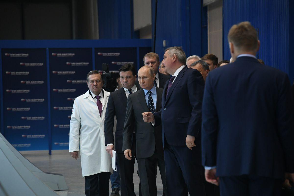 Андрей Воробьев губернатор московской области - Владимир Путин посетил НПО «Энергомаш» в Химках