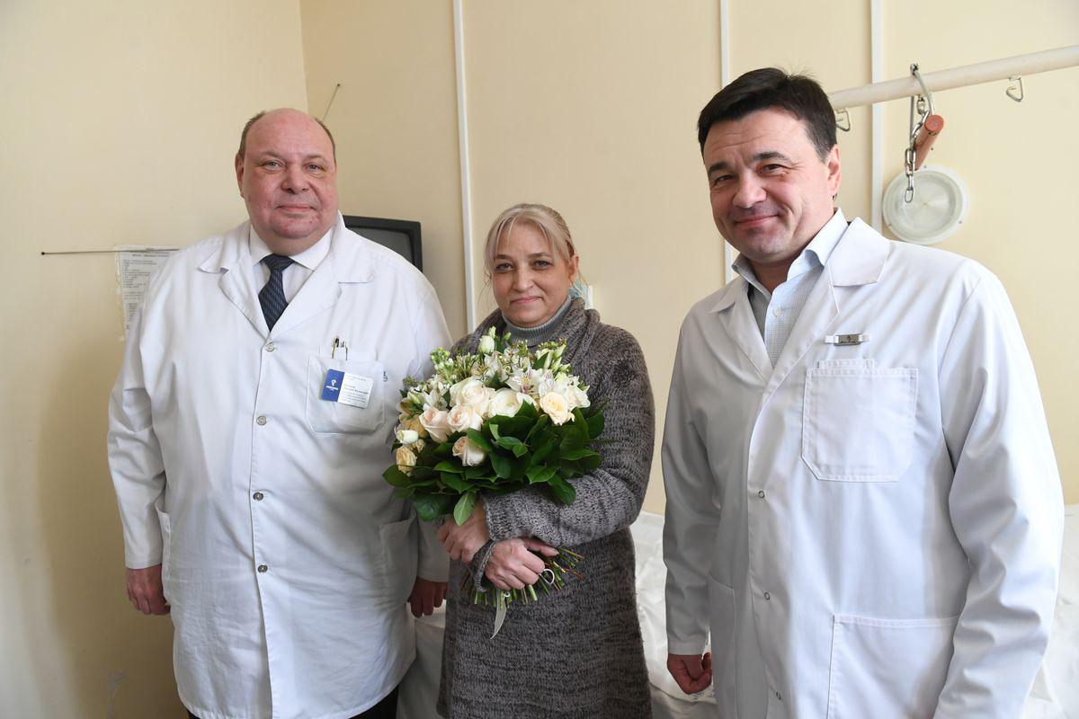 Андрей Воробьев губернатор московской области - Первое пересаженное сердце. Губернатор навестил пациентку МОНИКИ