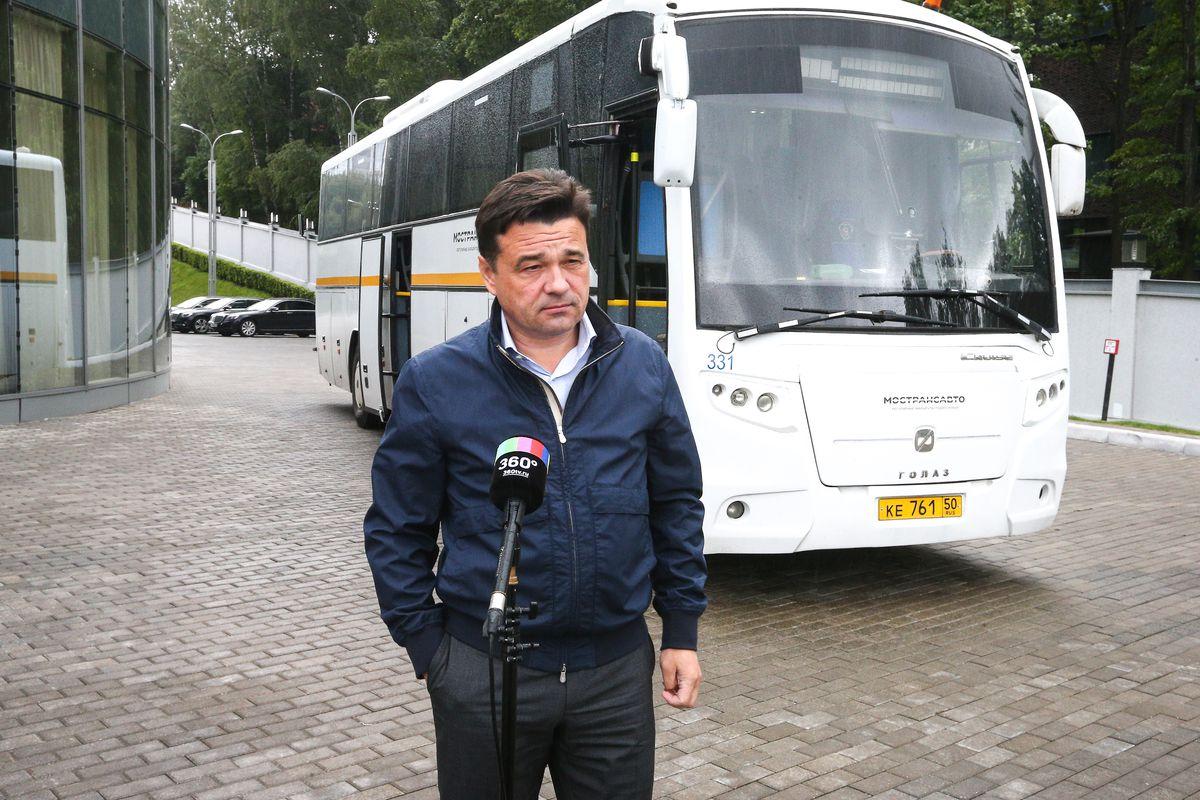 Андрей Воробьев губернатор московской области - Из Коломны с комфортом: современные автобусы появятся на маршруте до Москвы