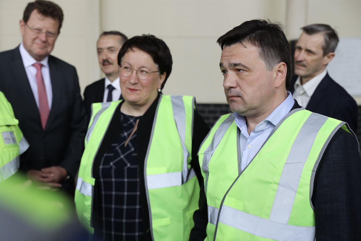 Андрей Воробьев губернатор московской области - Открытие новой линии проекта Knauf в Красногорске