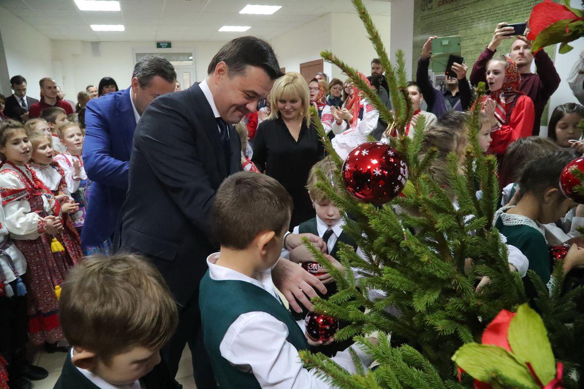 Андрей Воробьев губернатор московской области - Детская школа искусств имени Чайковского в Клину