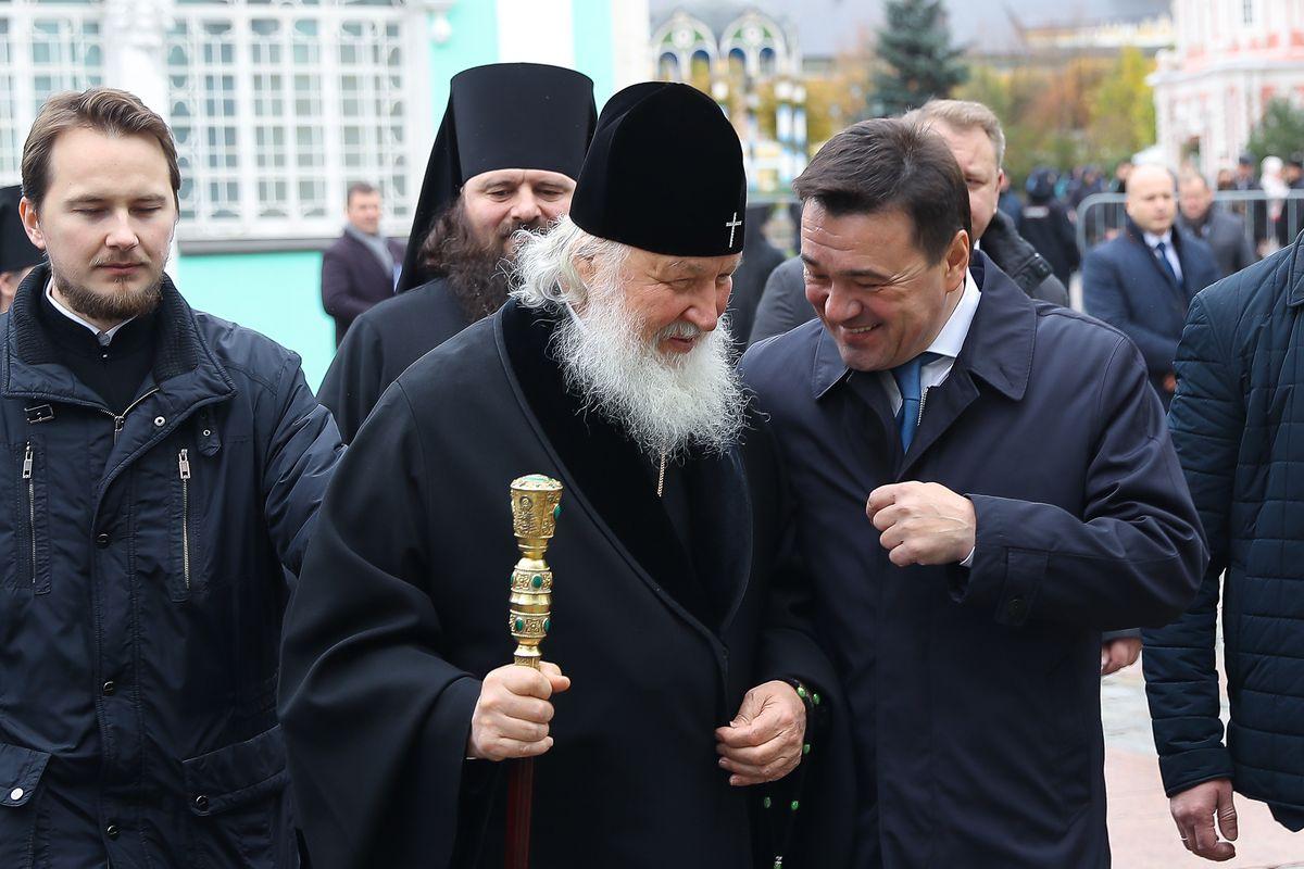 Андрей Воробьев губернатор московской области - Губернатор и Патриарх почтили память Сергия Радонежского