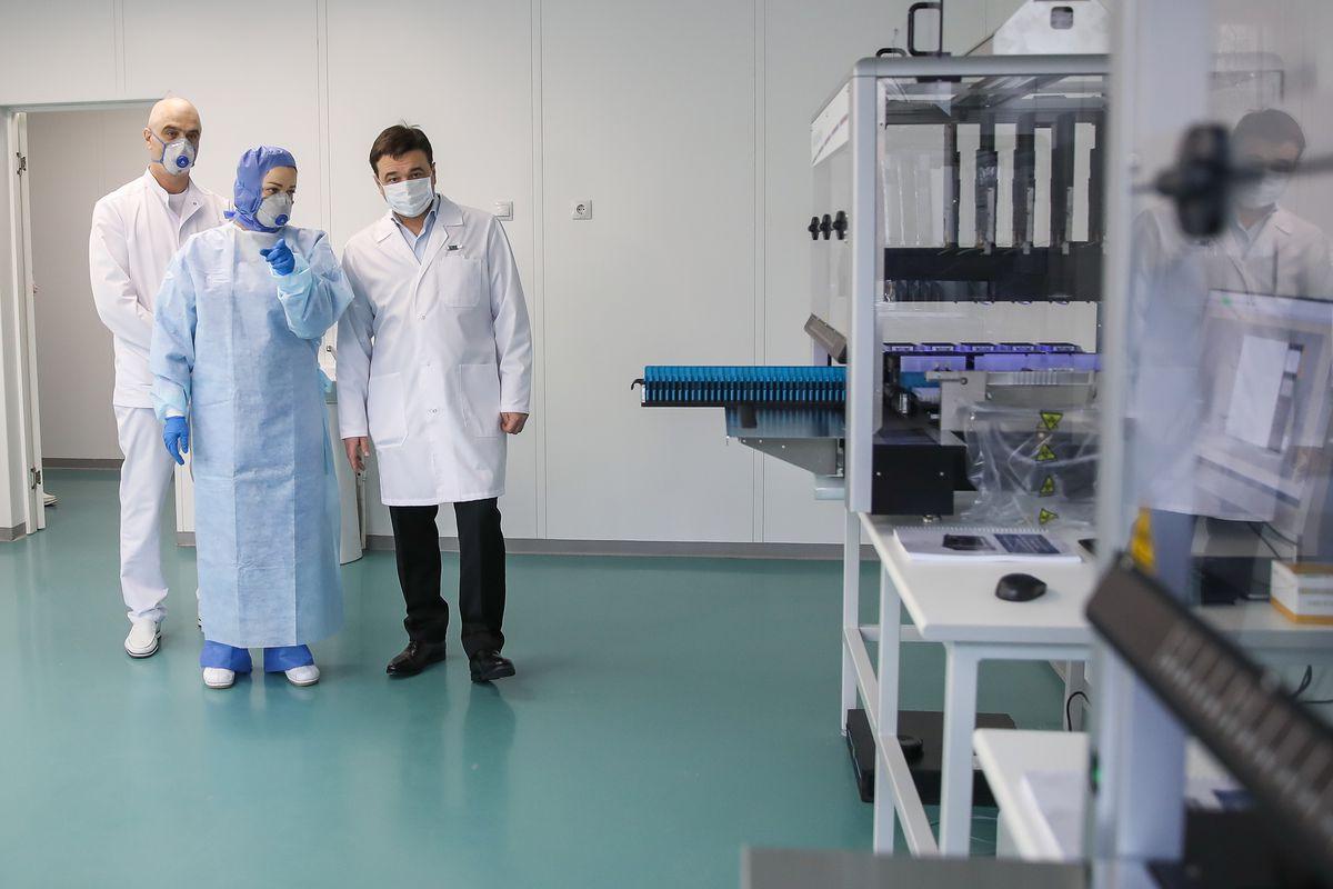 Андрей Воробьев губернатор московской области - Ускорить диагностику: в Королеве открыли новую лабораторию