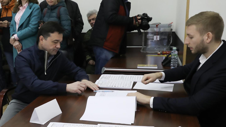 Андрей Воробьев проголосовал на выборах в совет депутатов в Одинцовском округе