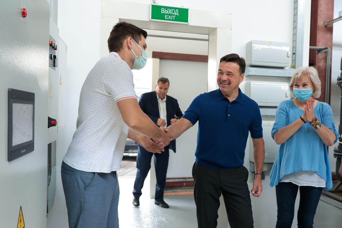 Андрей Воробьев губернатор московской области - На 3 месяца раньше срока. Водозаборный узел в Одинцово открылся после реконструкции