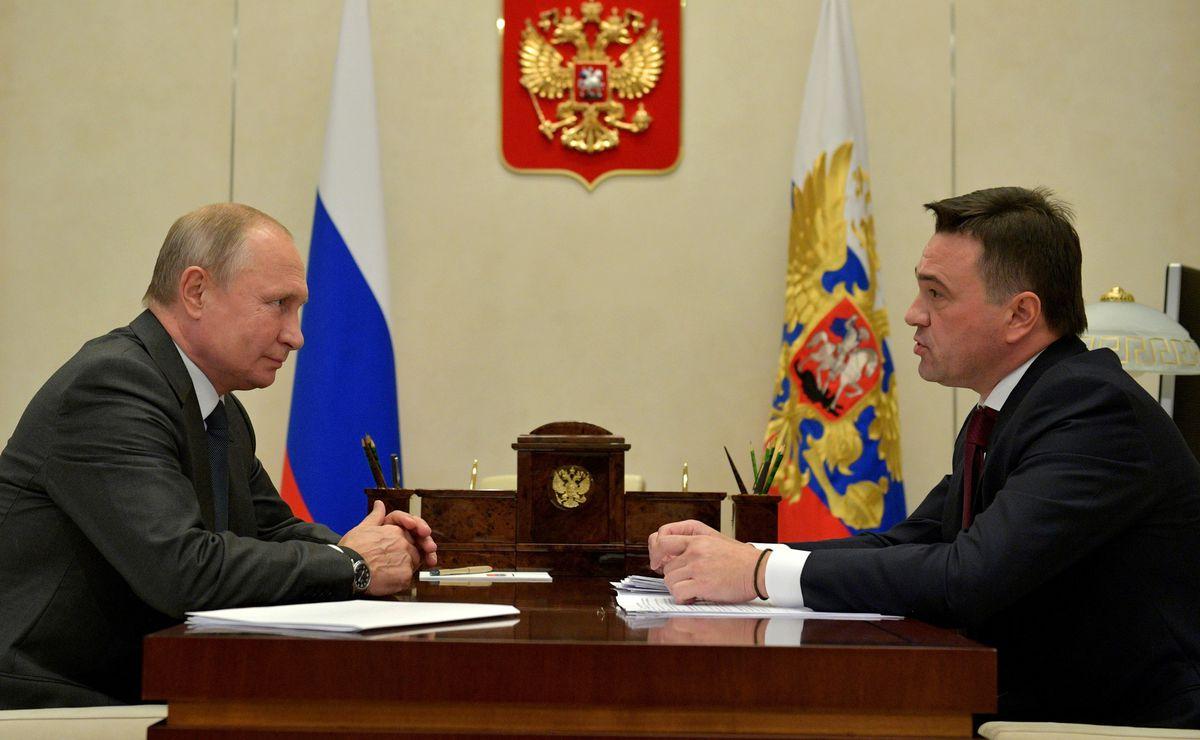 Андрей Воробьев губернатор московской области - Владимир Путин встретился с Андреем Воробьевым