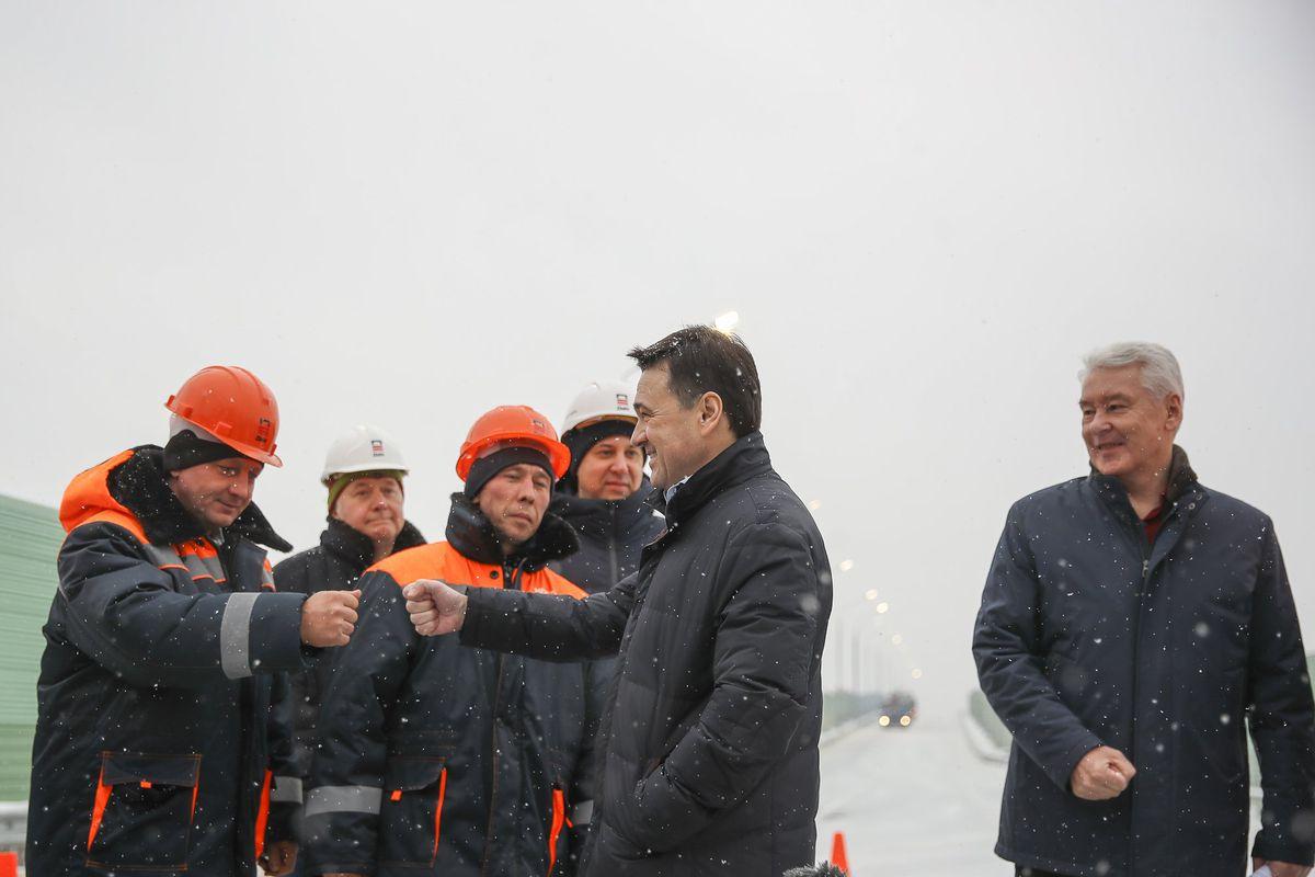 Андрей Воробьев губернатор московской области - Другое качество жизни. У платформы Жаворонки открыли путепровод