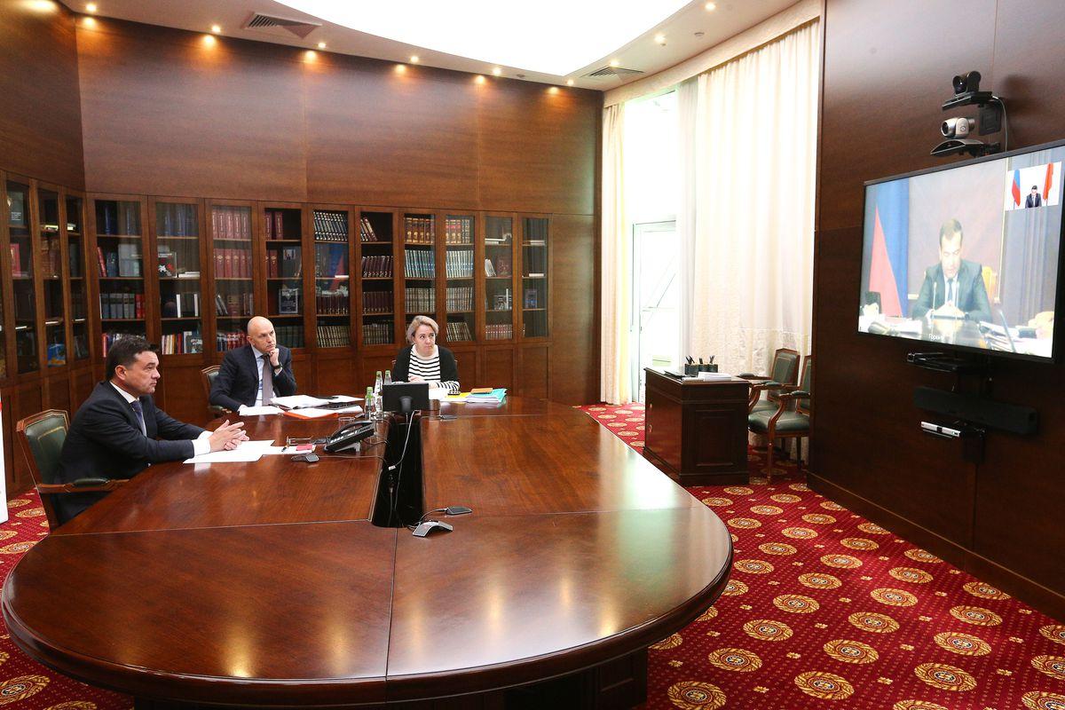 Андрей Воробьев губернатор московской области - Дмитрий Медведев обсудил с главами регионов реализацию нацпроектов