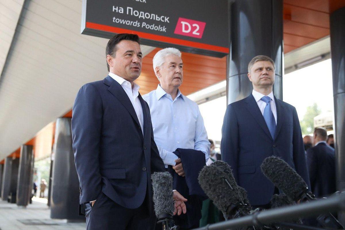 Андрей Воробьев губернатор московской области - Пригородный вокзал открыли в Нахабине. Это крупнейшая станция МЦД