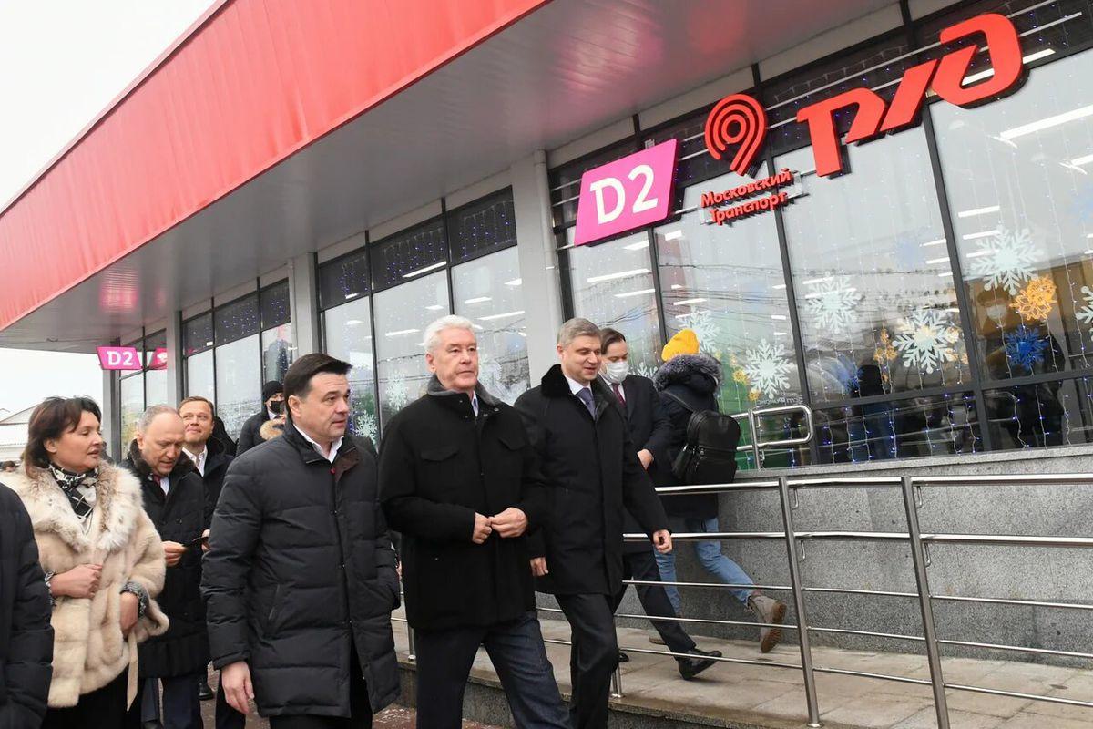 Андрей Воробьев губернатор московской области - Самый высокий уровень. В Подольске открыли обновленную станцию МЦД-2