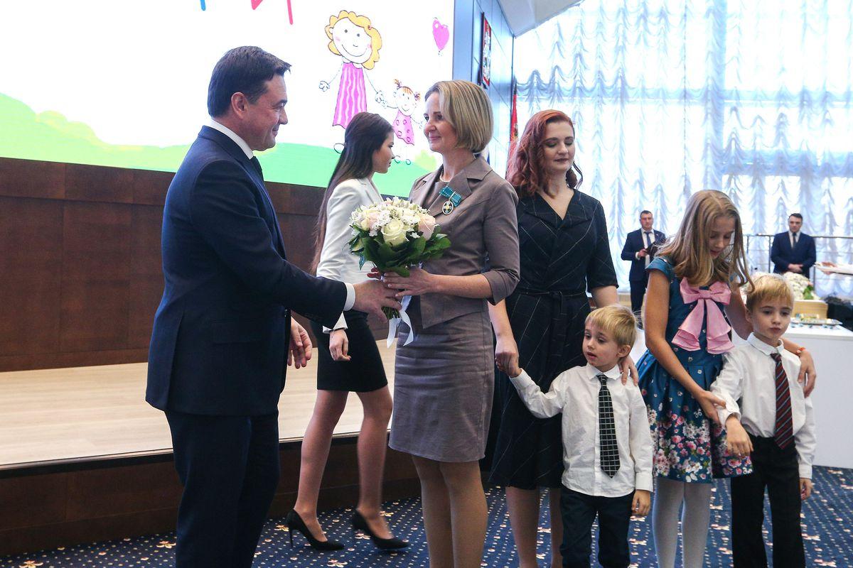 Андрей Воробьев губернатор московской области - Лучших мам Подмосковья наградили в Подмосковье
