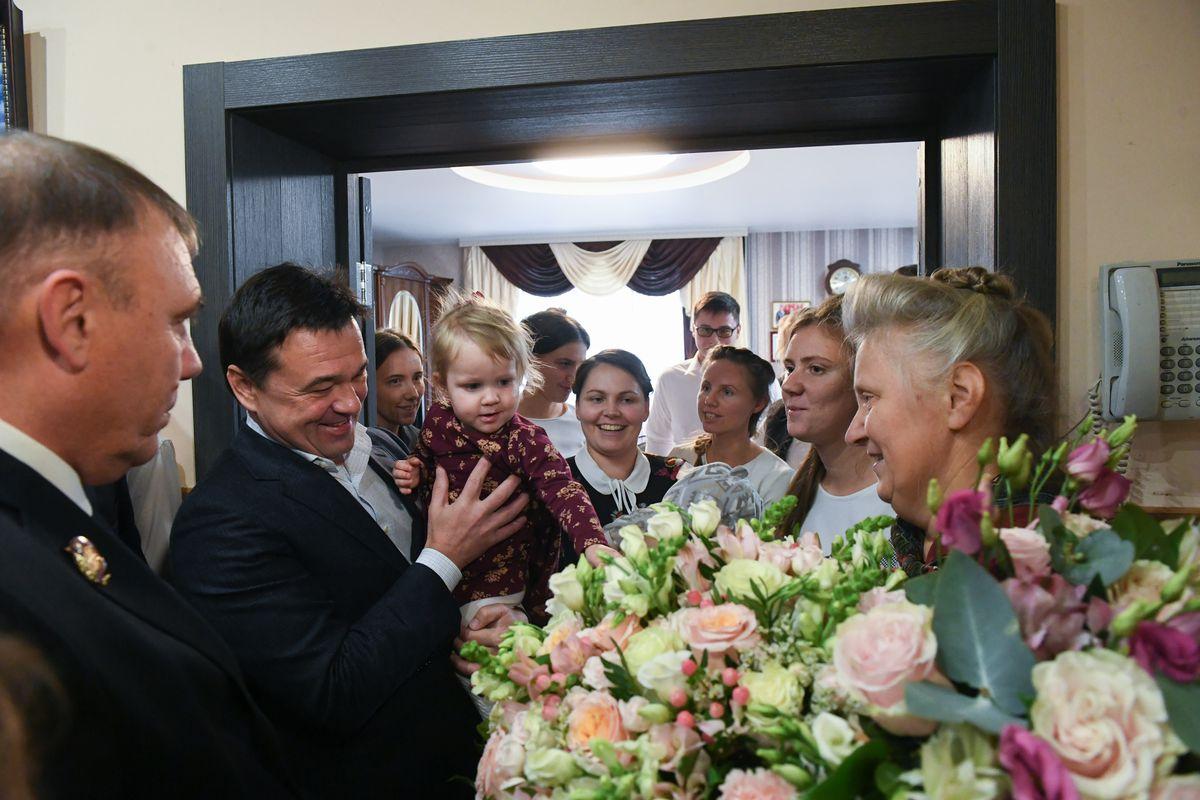 Андрей Воробьев губернатор московской области - 17 детей и 23 внуков. Губернатор встретился с самой большой семьей Подмосковья