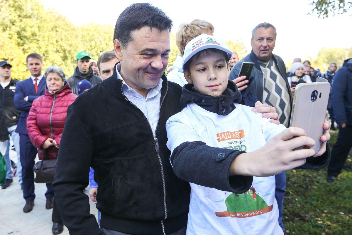 Андрей Воробьев губернатор московской области - Акция «Наш лес. Посади свое дерево» прошла в Подмосковье