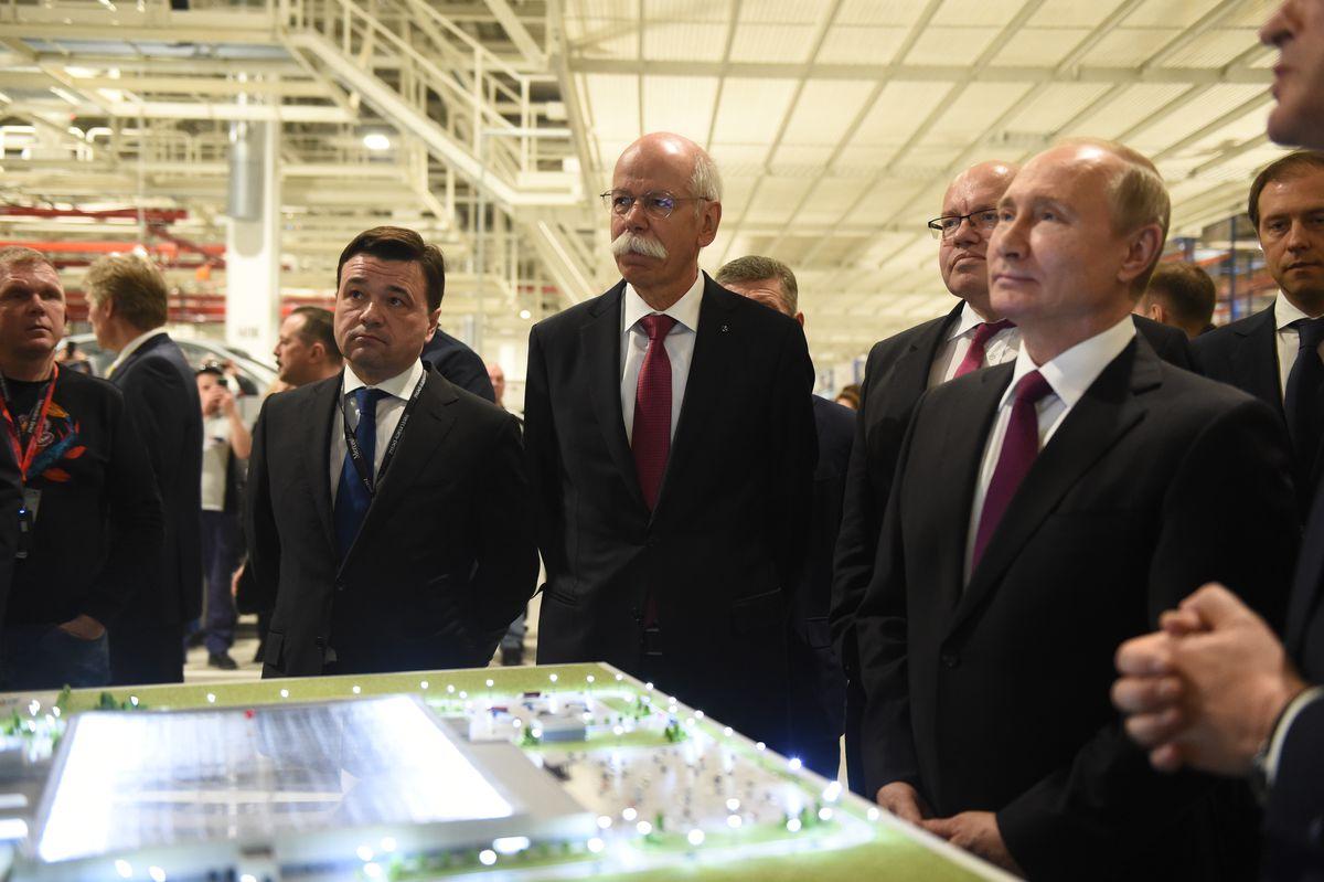 Андрей Воробьев губернатор московской области - Открытие завода Mercedes в Подмосковье