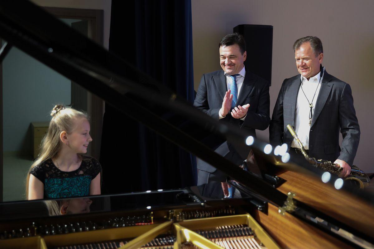 Андрей Воробьев губернатор московской области - Урок продолжается: в Пушкино открыли новое здание музыкальной школы