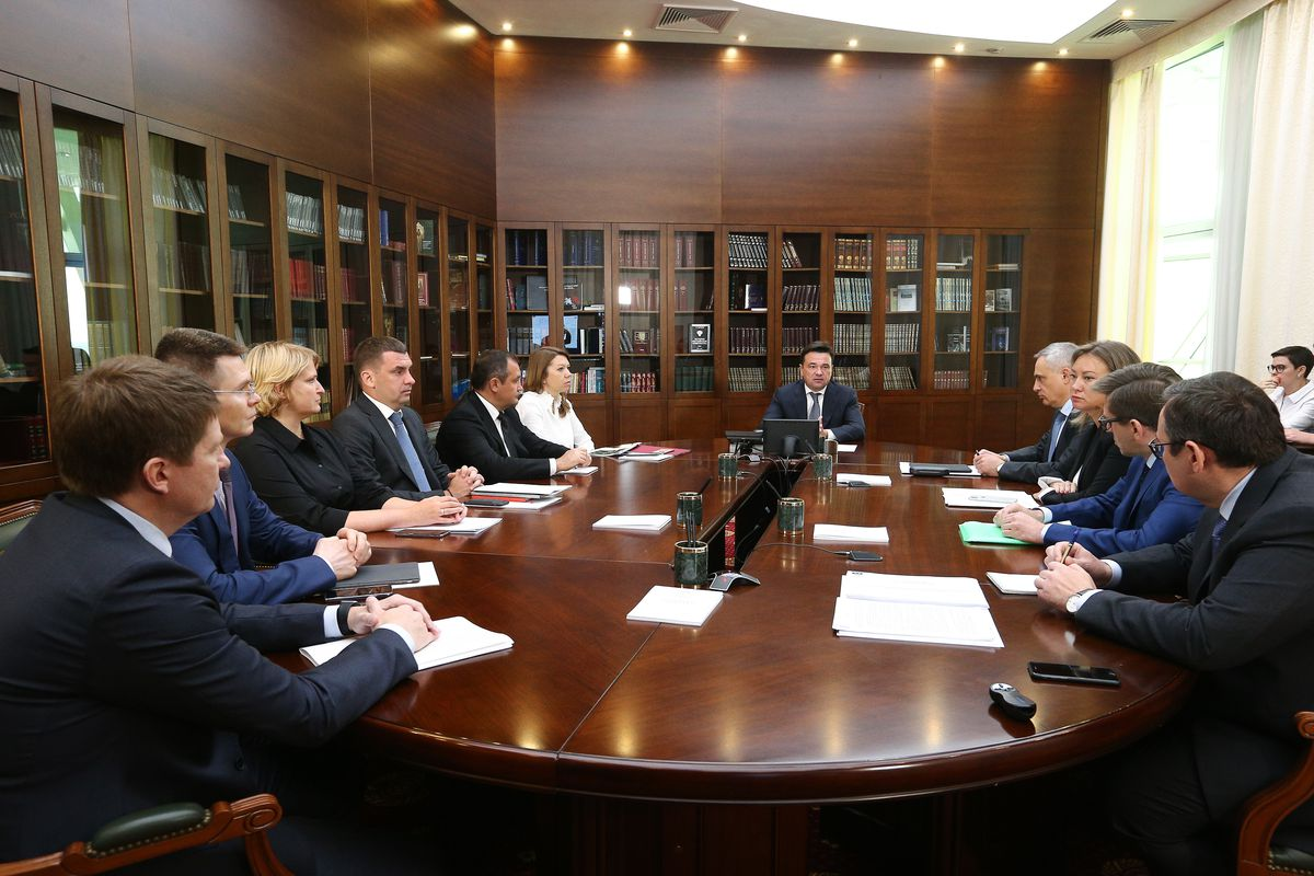 Андрей Воробьев губернатор московской области - Совещание с зампредами правительства Московской области