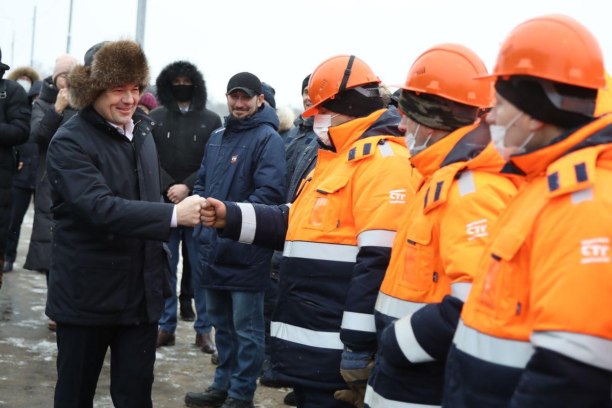 Андрей Воробьев губернатор московской области - До Трехгорки и обратно. Новую развязку открыли в Одинцове