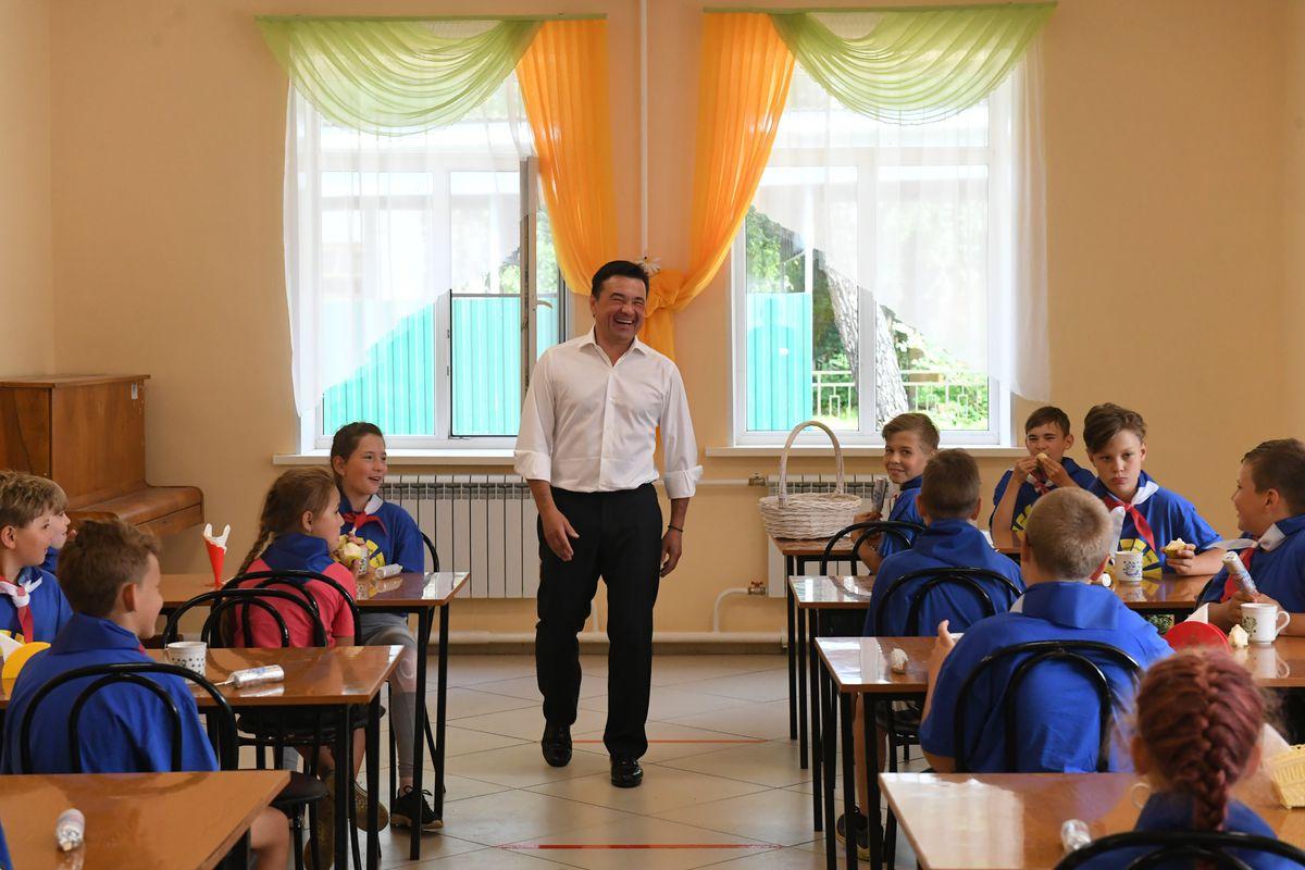Андрей Воробьев губернатор московской области - Андрей Воробьёв проверил работу детского лагеря «Осетр» Зарайске