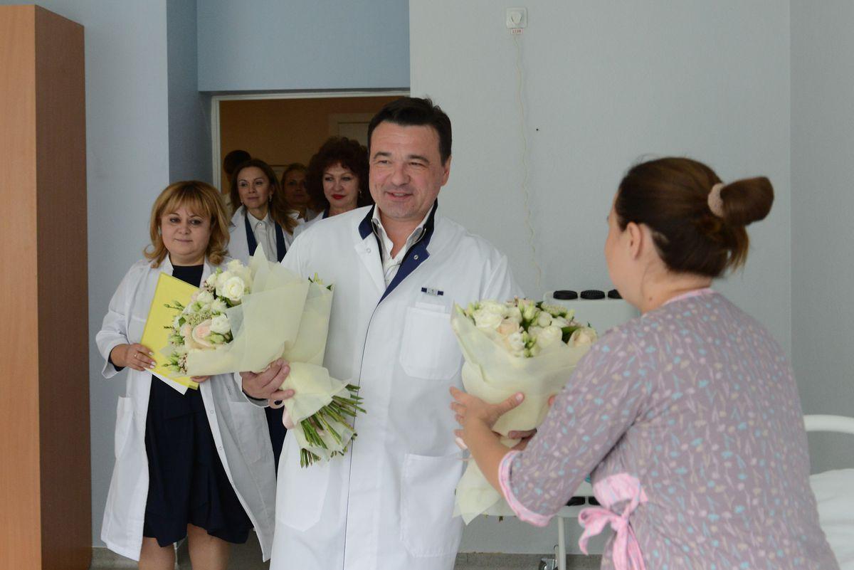Андрей Воробьев губернатор московской области - Губернатор проверил работу услуги «Рождение ребенка» в перинатальном центре Балашихи
