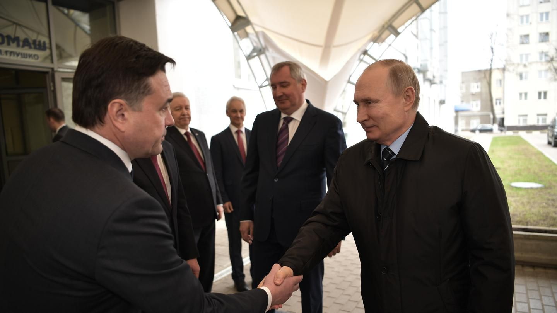 Владимир Путин посетил НПО «Энергомаш» в Химках