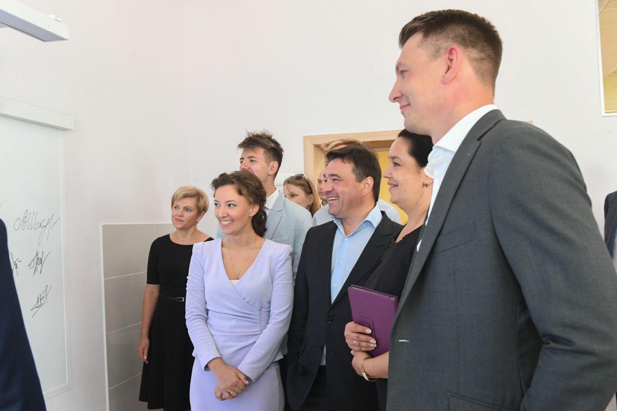 Андрей Воробьев губернатор московской области - Губернатор проверил готовность Домодедовского лицея к новому учебному году
