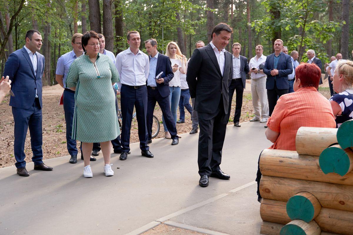 Андрей Воробьев губернатор московской области - Посещение ЭкоПарка «Губайловский» в Красногорске