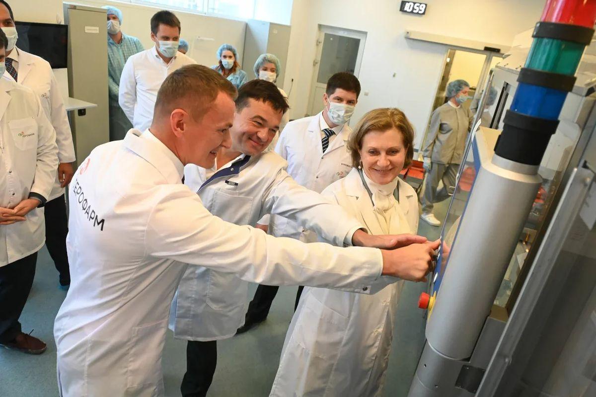 Андрей Воробьев губернатор московской области - «ЭпиВакКорону» теперь производят в Подмосковье. Старт выпуска вакцины