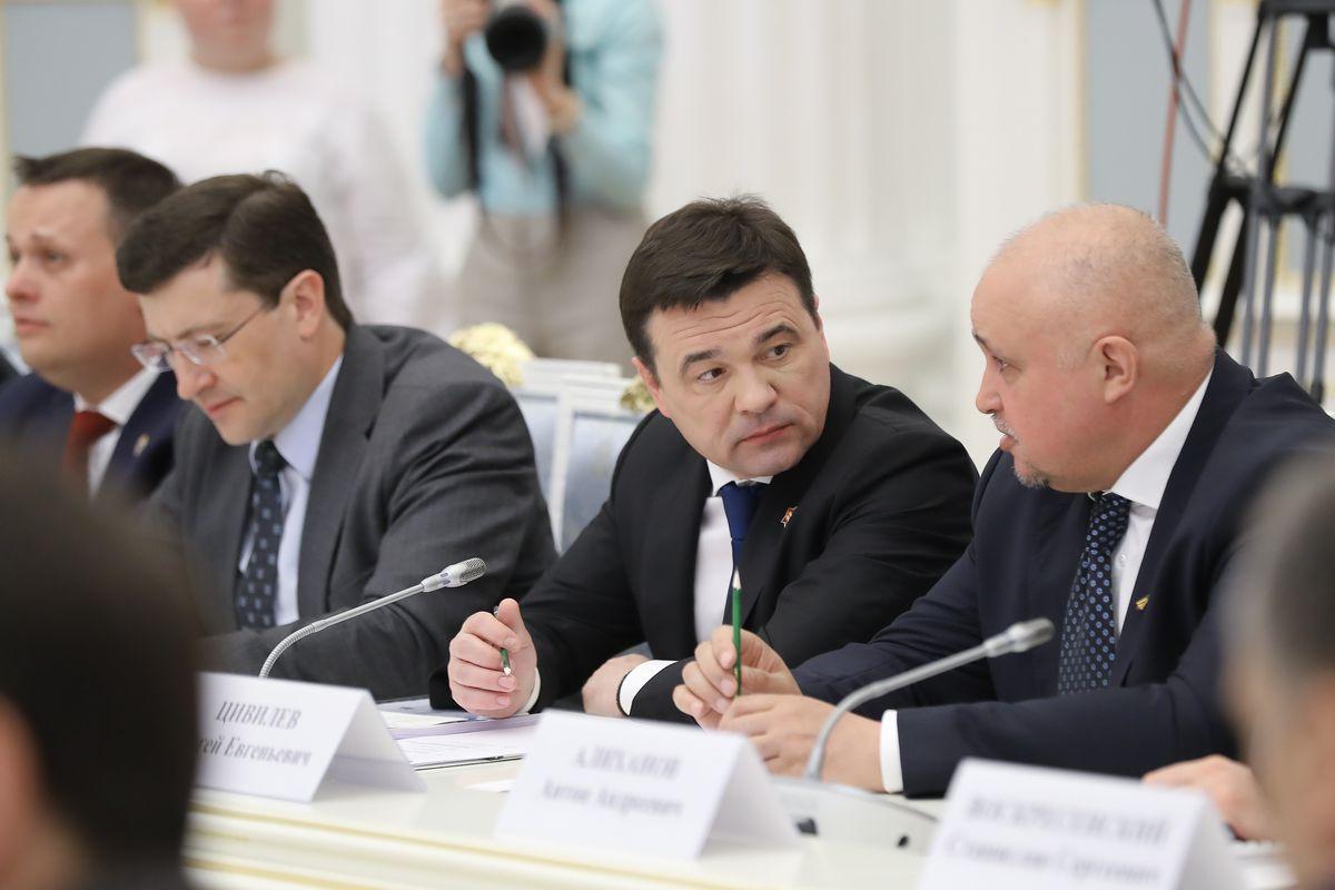 Андрей Воробьев губернатор московской области - Заседание Совета по стратегическому развитию под председательством Владимира Путина