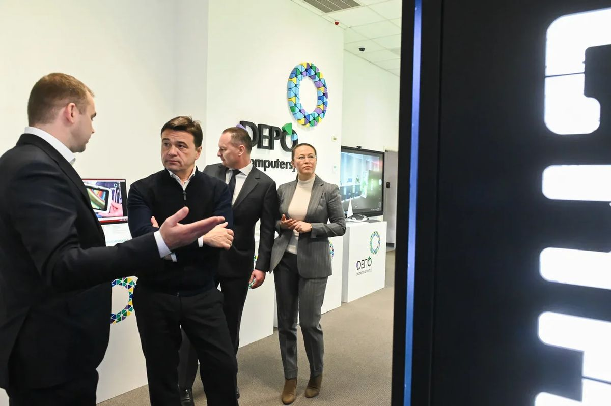 Андрей Воробьев губернатор московской области - Будущее начинается в Подмосковье: современные ЭВМ собирают в Красногорске