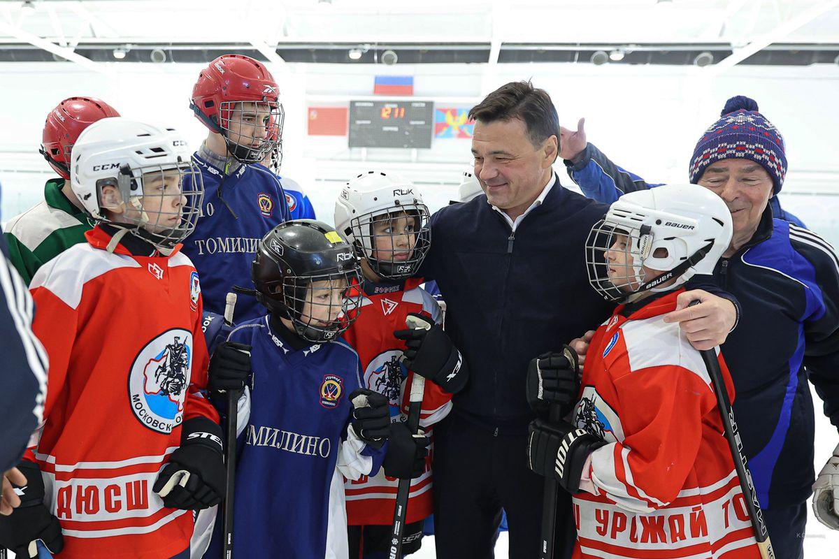 Андрей Воробьев губернатор московской области - Первая в Люберцах: как проходят занятия на ледовой арене стадиона «Зенит»