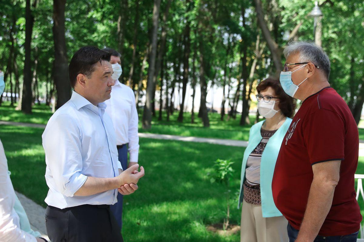 Андрей Воробьев губернатор московской области - Новая зона отдыха для всех возрастов. Поездка в Воскресенск